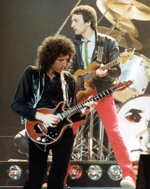 Brian May and John Deacon - 1979