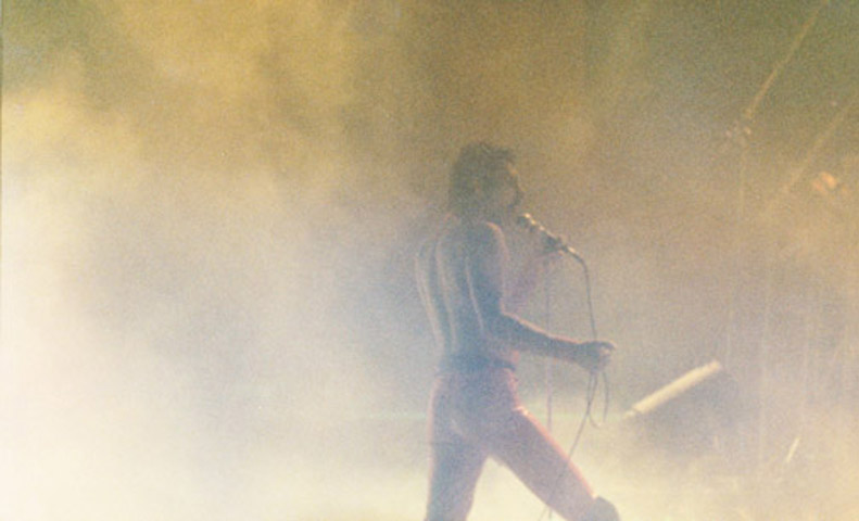 Freddie Mercury in the fog - 1979