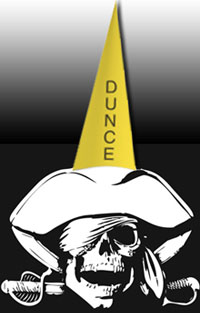 Pirate dunce